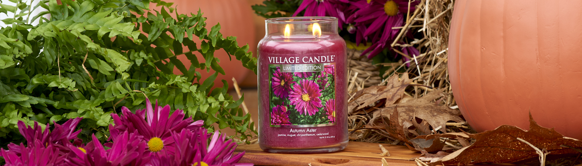 banner village candle